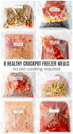 Slow Cooker Freezer Meals, Make Ahead Freezer Meals, Crock Pot Freezer, Freezer Cooking, Freezer Soups, Chicken Freezer Meals, Meal Prep Freezer, Freezer Meal Recipes, Freezable Meal Prep