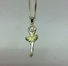 14k Ballerina Pendant With 14k Necklace by EEEsGems on Etsy