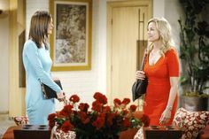 Phyllis and Avery glow in brightly colored summer dresses. #YR, #Fashion
