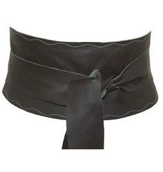 Extra Wide Chocolate Brown Leather Obi Belt from The Latest Thing - Ladies leather belts made in the UK.
