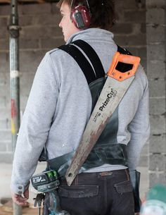 "CARPENTER VEST This tool vest is made in collaboration with and for a carpenter, considering all his needs. It has pockets for drawing tools, a phone, measuring tape, carpet knife and some other cutting tools. The vest also features a utility belt for accommodating a hammer, a drill and a big pocket for screws and … Continue reading ""Carpenter Vest"""