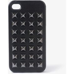 Spiked Faux Leather Case for iPhone ($12) ❤ liked on Polyvore featuring accessories, tech accessories, phone cases, phones, iphone, cases and forever 21