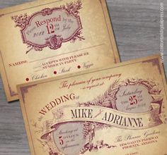 old fashioned wedding invites