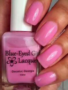 Blue-Eyed Girl Lacquer: Pink Sugar Sunsets (Desitnation Duo Polish) #blueeyedgirllacquer #begl #beglove #swatch #indiepolish