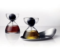 Because it's impossible to pour the right amount: Oil And Vinegar Pipette Glasses