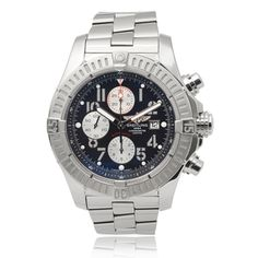 Breitling Men's 'Super Avenger' Chronograph Link Watch | Overstock.com Shopping - The Best Deals on Breitling Men's Watches