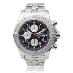 Breitling Men's 'Super Avenger' Chronograph Link Watch | Overstock.com Shopping - The Best Deals on Breitling Men's Watches