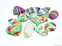 Using scraps to make gorgeous polymer clay beads with The Beaded Bazaar