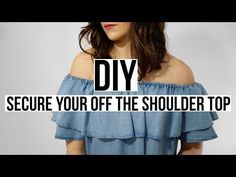 How To Keep Off The Shoulder Tops In Place | Split Second Styling Tips | Refinery29 - YouTube
