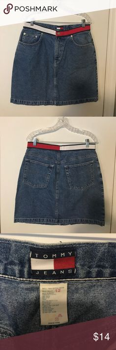 Tommy Jeans denim mini skirt.  Women's size 12. Tommy Jeans denim mini skirt size 12. Skirts