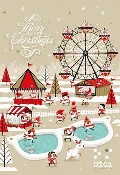 """Christmas for """"Ottica Moderna"""" by Simone Roveda, via Behance"""