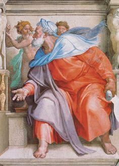 Sixtinische Kapelle, Michelangelo, Prophet Ezechiel (Prophet Ezekiel) by HEN-Magonza, via Flickr