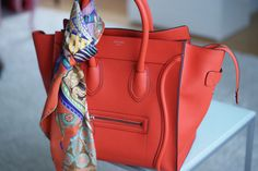 Mini red Celine luggage