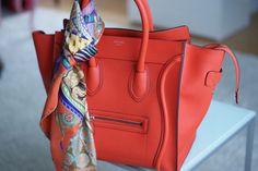 Mini red Celine luggage