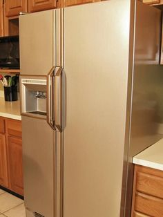 liquid stainless steel to paint appliances. watch the video > http