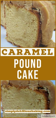 Caramel Pound Cake - Scrumptious and moist, melt in your mouth pound cake covered with thick caramel frosting. Easy to make recipe with simple ingredients. A perfect cake for fall or Thanksgiving, one of the best. Try it this autumn or holiday season. Click here for recipe. #caramelpoundcake #poundcakelove #poundcake Creative Cake Decorating, Creative Cakes, Brown Sugar Cakes, Fall Cake Recipes, Caramel Frosting, Fall Cakes, Cake Cover, Vanilla Flavoring, Easy Food To Make