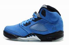 $94.99 Air Jordan 5 Retro Custom Knicks Blue   http://www.stepide.net/air-jordan-5-retro-custom-knicks-blue-p-112.html