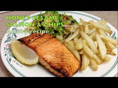 Flavoursome Honey Roasted Salmon and Chips cooked in the Tefal Actifry 2 in Fich and chips never tasted so good. Lowest Fat option I know of and no compro. Tefal Actifry, Actifry Recipes, New Kitchen Gadgets, Banana Chocolate Chip Muffins, Chips Recipe, Roasted Salmon, Fish And Chips, Air Fryer Recipes, Salmon Recipes