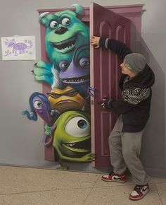 3d wall paintings - Monsters Inc.