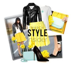 """""""March Style Insider"""" by easy-dressing ❤ liked on Polyvore featuring R13, FAUSTO PUGLISI, Kate Spade and Oscar de la Renta"""