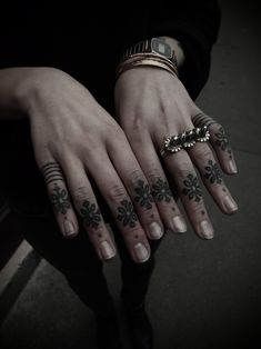 ornaments & lines by guy la tatooer #hand #finger #tattoos