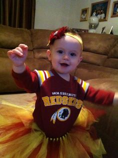 Mackenzie is a born and raised #Redskins fan! Sent in by Brittany.