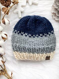 Beanie Knitting Patterns Free, Beanie Pattern Free, Fair Isle Knitting Patterns, Crochet Beanie Pattern, Baby Hats Knitting, Loom Knitting, Sewing Patterns, Knitting Ideas, All Free Knitting