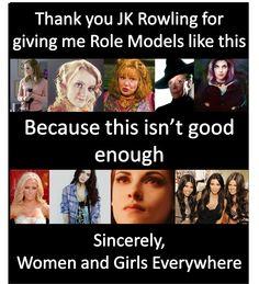 Molly Weasley, Luna Lovegood, Hermione Granger, Tonks and McGonagall