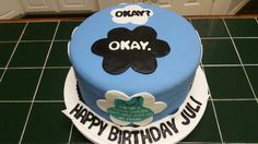 Amy's Crazy Cake - Tis Fault in Our Stars Cake