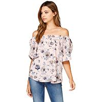 Designer Clothes, Shoes & Bags for Women Fancy Tops, Dressy Tops, Pink Tops, Floral Tops, Silver Icing, Flare Top, Online Collections, Fashion Company, Off Shoulder Blouse