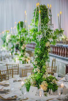 A Romantic Green and White Beverly Wilshire Wedding - International Event Company Wedding Centerpieces, Wedding Decorations, Table Decorations, Beverly Wilshire, Wilshire Hotel, January Wedding, Cruise Wedding, Sunset Wedding, Event Company