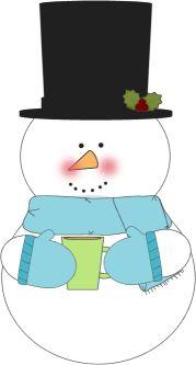 MyCuteGraphics-Snowman Drinking Hot Cocoa