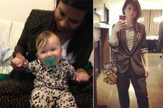 A few months ago Mindy Kaling posted this photo to Instagram of herself and a friend* both wearing amazing prints. Mindy's outfit is a black and white star print silk suit by Corey Lynn Calter, also seen on Hollywood super stylist Ilaria Urbinati. /// Corey Lynn Calter Star Print Suit (available at Confederacy, 323-913-3040) //// Photo credits: Mindy Kaling and Ilaria Urbinati /// *I know nothing more about Mindy's friend's outfit other than this kid knows how to rock a onesie