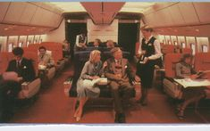 1980 The First Class cabin of Pan Am's Lockheed L1011-500.  This cabin would be modified with Sleeperette  seats in First Class within a year of delivery to Pan Am.