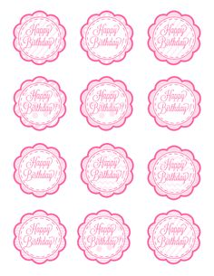 american girl free cupcake toppers printable | These could also EASILY double as gift tags. Just print, cut ...