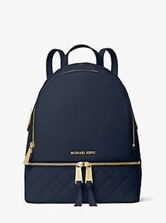 Find the Rhea Medium Quilted-Leather Backpack by Michael Kors at Michael Kors. Mk Handbags, Handbags Michael Kors, Purses And Handbags, Michael Kors Bag, Cheap Handbags, Cheap Bags, Designer Handbags, Fashion Bags, Fashion Backpack