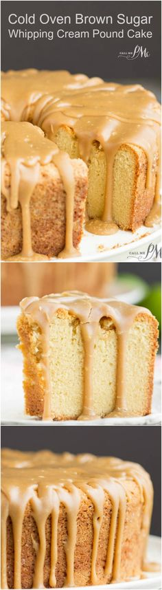 Cold Oven Brown Sugar Whipping Cream Pound Cake is perfectly moist and velvety on the inside with that crusty top that's loved so much.
