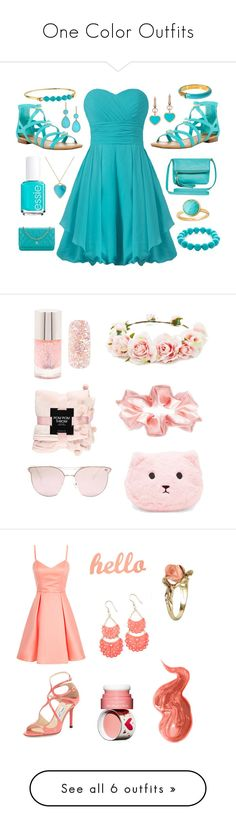 """One Color Outfits"" by queencourtney16 ❤ liked on Polyvore featuring Breckelle's, Jack Rogers, Essie, Chanel, Kim Rogers, Lauren Ralph Lauren, Chopard, Jennifer Meyer Jewelry, Astley Clarke and Diane Von Furstenberg"