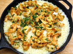 Madhur Jaffrey's Shrimp Biryani. Had this earlier this week and loved it. so many good flavors, and I think this is my favorite kind of rice.