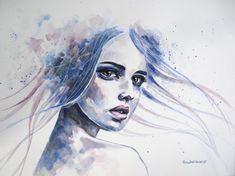 As belas e singelas mulheres coloridas nas aquarelas de Erica Dal Maso