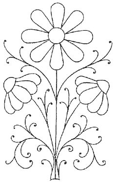 lovely daisy pattern, would look great stitched or also used for my glass painting
