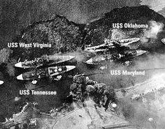Battleship row at Pearl Harbor