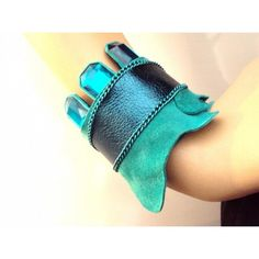 braceletes, bracelete, pulseira, couro tingido, couro legítimo, couro liso, azul, pedra resinada