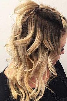 Ideas Hairstyles For Medium Length Hair Homecoming Hairdos - Hair Styles 2019 Cute Fall Hairstyles, Cute Hairstyles For Medium Hair, Braided Hairstyles, Wedding Hairstyles, 1930s Hairstyles, Hairstyle Ideas, Latest Hairstyles, Hair Ideas, School Picture Hairstyles