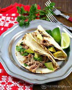 Slow Cooker Salsa Verde Chicken Tacos -  The_Foodie_Affair
