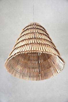 Clothespin lamp shade