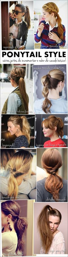 Update your campus pony Ponytail Styles, Curly Hair Styles, Ponytail Ideas, Pretty Hairstyles, Braided Hairstyles, Great Hair, Awesome Hair, Hair Affair, Mode Style