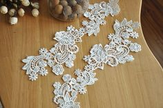 venice lace applique in white costume design Jewelry by lacetime