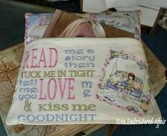 Read Me A Story Embroidery Design