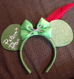 Disneys Peter Pan inspired Mickey ears  by BrookeHyland345 on Etsy, $20.00